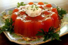 Tomato Aspic - Foods From The '60s We Never Want To Eat Again - It's Rosy Instant Mashed Potatoes, Jell O, Fresh Fruits And Vegetables, Food Trends, Diet, Foods, Meals, Desserts, Recipes