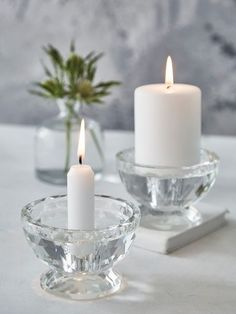 Faceted Glass Candle Holder