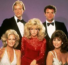 Kevin Dobson, Donna Mills, Joan Van Ark, Michele Lee, and Ted Shackelford in Knots Landing (1979)