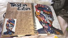 #tristaneaton #artiststudy A Level Art Sketchbook, Sketchbook Layout, Textiles Sketchbook, Sketchbook Ideas, Sketchbook Project, Kunstjournal Inspiration, Sketchbook Inspiration, Artist Research Page, Kunst Portfolio