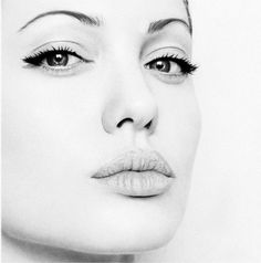 Angelina Jolie - pencil drawings   Incredible Photo Realistic Drawing – DesignSwan.com