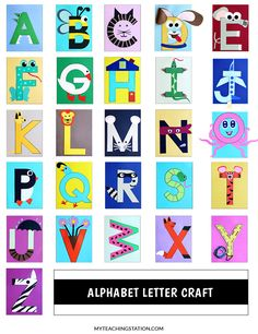 Creative Classroom Alphabet Letter Craft for Preschool and Kindergarten Tips For Removing Asbestos V Preschool Letter Crafts, Alphabet Letter Crafts, Abc Crafts, Animal Alphabet, Letter Art, Preschool Crafts, Preschool Planner, Letter Collage, Alphabet Books