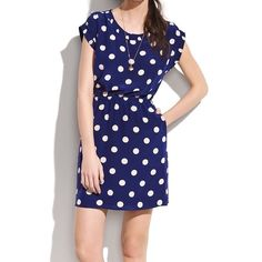 "Madewell Silk Dotty Dot Dress Madewell Silk Dotty Dot Dress. -Fitted. -Straight skirt. -Falls 36"" from shoulder. -100% Silk. -Excellent condition!   NO Trades. Please make all offers through offer button. Madewell Dresses"