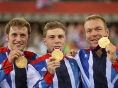 Team GB win gold for the men's team cycling sprint event on day six