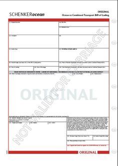 standard bill of lading form pdf bill of lading forms templates pinterest pdf template and microsoft excel