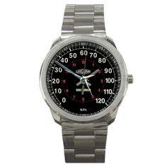 Jaguar Classic Car Speedometer Sport Metal Watch | zarkop - Jewelry on ArtFire #jaguar #jaguarwatch #accessories #watch #custom