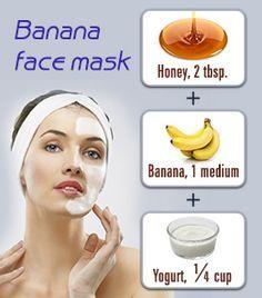 Easy banana face mask recipe