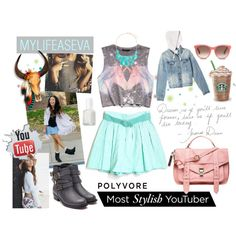 """""""mylifeaseva"""" by justlovedesign on Polyvore-I would love to wear this minus the jean jacket"""