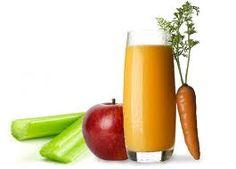 Licuado de manzana, zanahoria y apio para desintoxicar el organismo