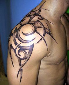Upper Arm Tribal Tattoo http://tattoodesignspro.com/tribal-tattoo-designs/