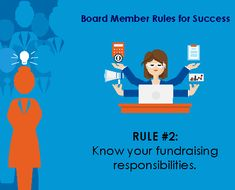 What are the fundraising responsibilities of nonprofit board members? Make your own proud personal gift! Help thank donors. Support the fundraising team. Open doors!