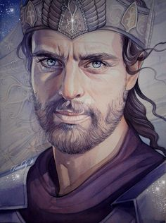 Elendil, leader of the Faithful who brought the remnant of his people from Númenor to Middle-earth by kimberly80.deviantart.com on @DeviantArt. Though Ar-Pharazôn was the last King of Númenor, the Line of Elros survived through Elendil the son of Amandil, and his two sons, Isildur and Anárion. They managed to escape the Downfall of Númenor that Ar-Pharazôn's actions had caused, and later created the kingdoms of Arnor and Gondor in Middle-earth.