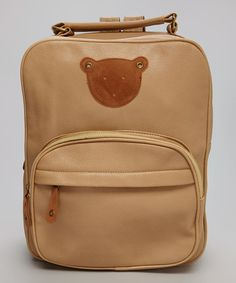 Look what I found on #zulily! Tan Bear Travel Bag #zulilyfinds