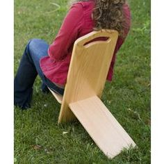 Made in the USA: This sturdy, portable oak chair has lots more style than plastic lawn chairs, and it's easier to carry than most. A very old design (also called a bog chair or stargazer's chair; some say the Vikings invented it) that's surprisingly comfortable considering its simplicity. - $52.95