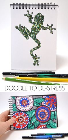 Doodle to De-Stress - Dream a Little Bigger. Tips for creating your own designs to color! Perfect tips for creating with @pinprismacolor pencils and markers from @michaelsstores! #relaxandcolor #coloringwithmichaels #pmedia Ad