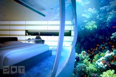 Underwater Hotel: The Water Discus - http://www.homeadore.com/2012/08/01/underwater-hotel-water-discus/