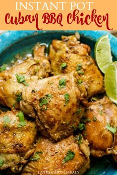 Polla a la Barbacoa (Cuban Soy Butter Chicken) This Cuban chicken recipe is a humble recipe using few ingredients. Easily made in the Instant Pot, slow cooker, or on the stove. Butter Chicken, Cuban Chicken, Baked Chicken, Chicken Chorizo, Cashew Chicken, Chicken Feed, Cuban Recipes, Beef Recipes, Walnut Recipes