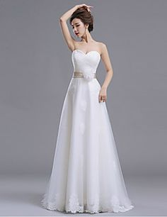 Organza Wedding Dress in the Summer