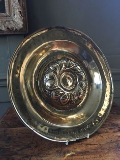 Large 16th century brass alms dish. I have always admired the jelly mould form of alms dish. Thick, heavy gauge brass. This is a good quality dish. Those dishes exported to Britain were sometimes used as alms dishes. | eBay!
