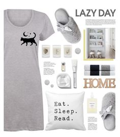 Sleep In: Lazy Day by tamara-p on Polyvore featuring polyvore fashion style Dearfoams French Girl Topshop James Perse Elizabeth Scarlett Home Essentials clothing LazyDay