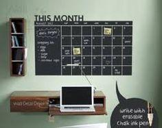 memo monthly calendar board - chalkboard - Google Search