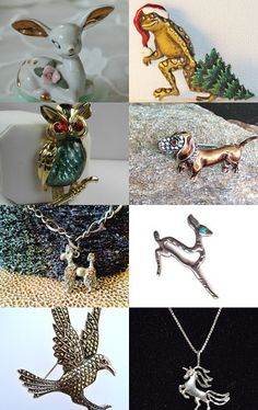 VJT Treasury - Lovers of Animals and Vintage Jewelry by Susan Baker on Etsy--Pinned with TreasuryPin.com