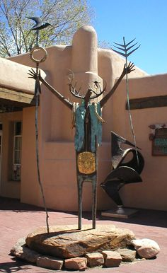 Entrance to the Folk Art Museum, Santa Fe, NM
