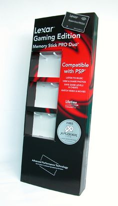Brilliant designed FSDU for Lexar!  Make your product stand out! We can design counter top unit for all products, Any size, shape and colour. Find out more at www.kentoninstore.co.uk