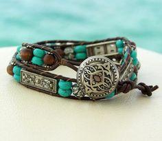 Country Style.... Leather Wrap Bracelet.... looking soooooooooo nice