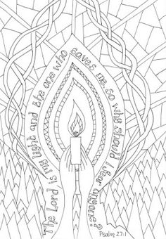 Flame: Creative Children's Ministry: Reflective Colouring: Psalm 27:1