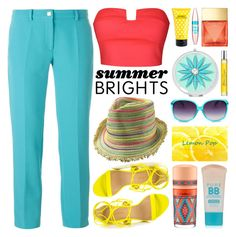 """""""Summer Brights"""" by lenochca ❤ liked on Polyvore featuring Versace, Ally Fashion, Liliana, Michael Kors, MAC Cosmetics, Maybelline, Liz Claiborne, Atelier Cologne, Marc Jacobs and summerbrights"""