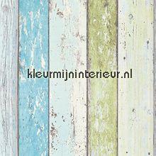 ... turquoise, lime en wit behang, fotobehang, gordijnstof en