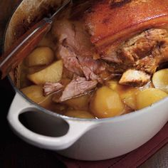 Pork Roast with Yellow Potatoes – Dinner Recipes Healthy Pork Recipes, Potato Recipes, Cooking Recipes, Pork Dishes, Vegan Dishes, Confort Food, Yellow Potatoes, Pork Stir Fry, Best Dinner Recipes