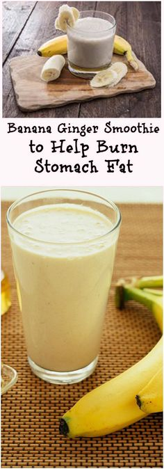 Banana Ginger Smoothie to Help Burn Stomach Fat