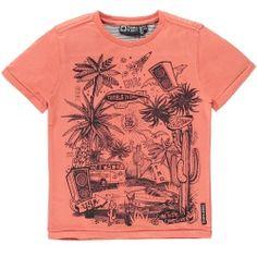 Tumble en Dry Jongenskleding Online Shop T-shirt Garin Flamingo Orange