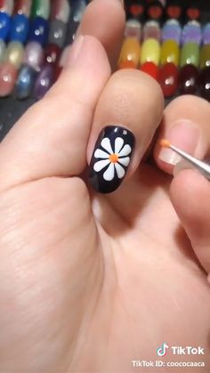 Nail Art Designs Videos, Nail Polish Designs, Acrylic Nail Designs, Beginner Nail Designs, Diy Nail Designs, Nail Designs Spring, Nail Art Hacks, Nail Art Diy, Diy Nails