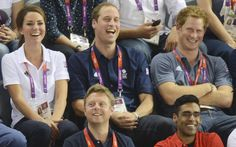 2 August 2012 - William, Kate and Harry attend the Olympic Cycling Event at the Velodrome in London