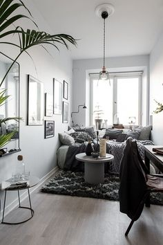 "gravityhome: "" Teeny tiny studio apartment Follow Gravity Home: Blog - Instagram - Pinterest - Facebook - Shop """