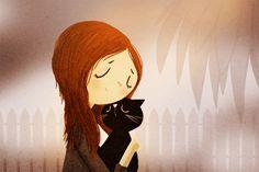 freckles #art #illustration #cat #kitty #love #ginger #redhead