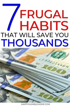 7 Frugal Habits that will save you Thousands - These tips for saving money will help people of any income level become debt free fast! Ideas for how to save money at home, on bills, on expenses, at the grocery store, and for your family. Save Money On Groceries, Ways To Save Money, Groceries Budget, Money Budget, Money Saving Challenge, Money Saving Tips, Saving Ideas, Money Tips, Making A Budget