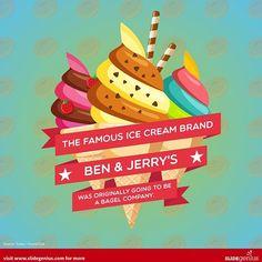 Ben & Jerry's wasn't supposed to be an ice cream brand. Could you believe it?  #mktg #ad #digitalmarketing #marketing #business #contentmarketing #slidegenius #b2b #blog #content #leads #prospects #audience #branding #brand #brandstrategy #socialmedia #smm #seo #adwords #googleads #videos #videomarketing #biz #entrepreneur #infographic #infographics #benandjerrys #icecream #bagel