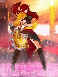 Erza god of war style fairy tail personnage, fairy tail anime, fairy Fairy Tail Love, Fairy Tail Art, Fairy Tail Girls, Fairy Tail Couples, Fairy Tail Ships, Fairy Tail Anime, Fairy Tales, Fairy Tail Female Characters, Fantasy