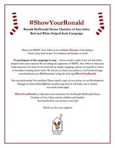 Ronald McDonald House Charities of Ann Arbor : Show Your Ronald