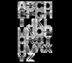 code-driven typography by the South Korean graphic designer Yeohyun Ahn