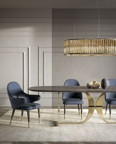 47 Modern Dinning Table Design Ideas Youll Love - Modern Home Design Dining Room Walls, Dining Room Lighting, Dining Room Sets, Dining Room Furniture, Furniture Sets, Furniture Design, Modern Dinning Table, Dinning Table Design, Dining Tables