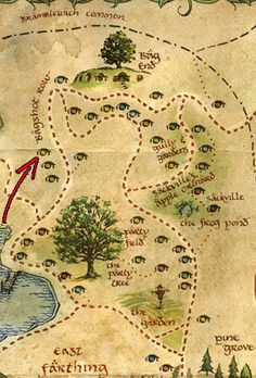Hobbiton Map. Even with it, Thorin still got lost.----------He is just to majestic for maps XD