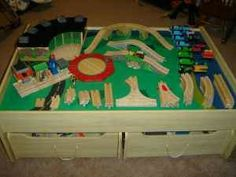 Thomas the Train Table and Accessories - $250 (Wallingford)
