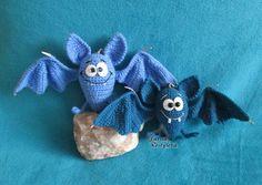Lustige Fledermaus Amigurumi Häkelanleitung von jasminetoys auf Etsy