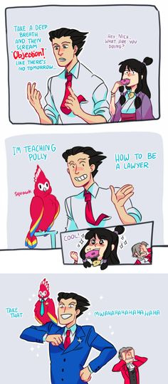 Phoenix wright training polly