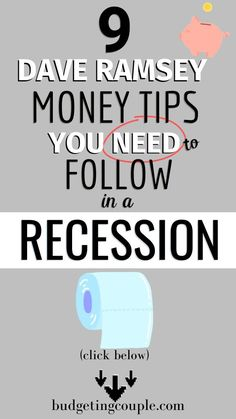finance website Shopify Store - Ideas of online shopping store - 9 Dave Ramsey Money Tips You Need to in a Recession Ways To Save Money, Money Tips, Money Saving Tips, Make Money Online, How To Make Money, Money Hacks, Financial Tips, Financial Planning, Retirement Planning
